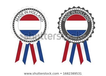 современных вектора Голландии Label изолированный белый Сток-фото © kurkalukas