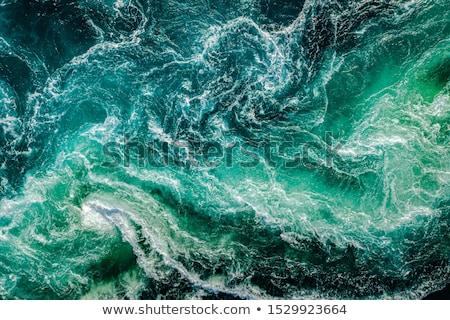 su · yüzeyi · dalgalar · damla · mavi · eğim · beyaz - stok fotoğraf © illustrart