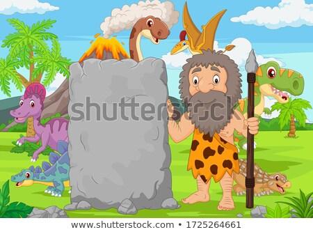 Cartoon Barbarian Sign Stock photo © cthoman