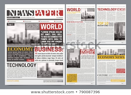 Newspaper Vector. Realistic Pages Template. News Page Layout. Columns And Photos. Illustration Stock photo © pikepicture