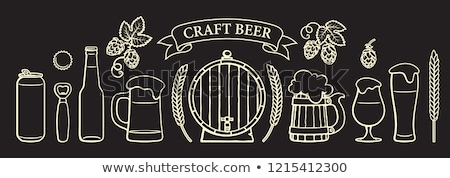 Beer Cans Bottles and Glasses Vector Illustration Stock photo © robuart