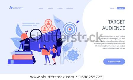 alvo · grupo · aplicativo · interface · modelo · empresário - foto stock © rastudio