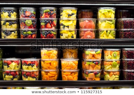 Apple Shop, Plastic Containers with Fruits Market Stock photo © robuart