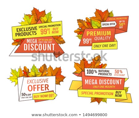 Price Tags Thanksgiving Offer Exclusive Final Cost Stock photo © robuart