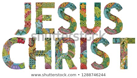 JESUS CHRIST. Vector zentangle object for decoration Stock photo © Natalia_1947