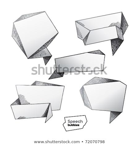 Banner Stripe Sketch Icon Vector Illustration Stock photo © robuart