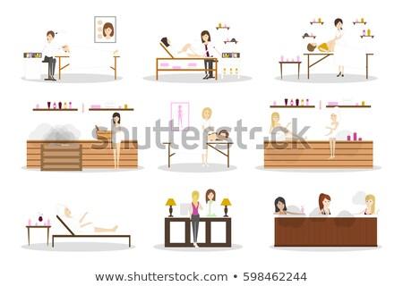 Spa Salon Reception and Depilation Set Vector Stock photo © robuart