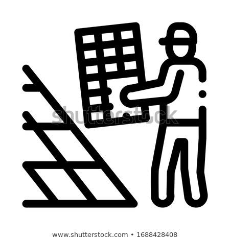 vetor · isométrica · edifícios · industrial · conjunto · detalhado - foto stock © robuart