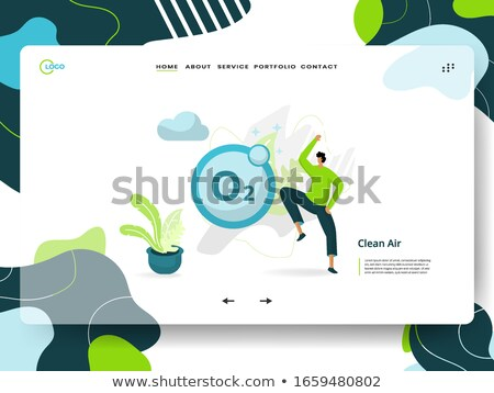 Water filtering system concept landing page. Stock photo © RAStudio