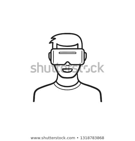 Utente indossare virtuale realtà occhiali Foto d'archivio © RAStudio