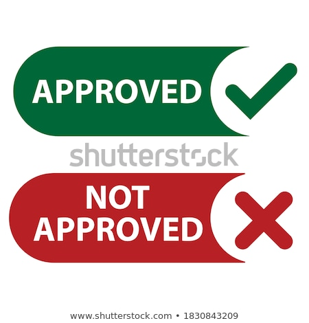 aprovado · grunge · assinar · vetor · atravessar · verde - foto stock © robuart