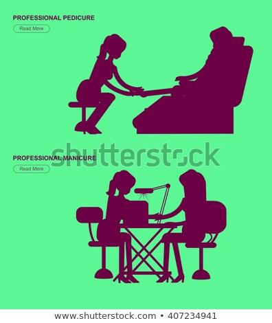 make · vector · pedicure · nagel · behandeling - stockfoto © robuart