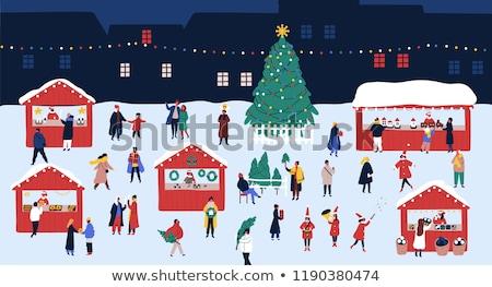 通り クリスマス 公正 人 買い ベクトル ストックフォト © robuart