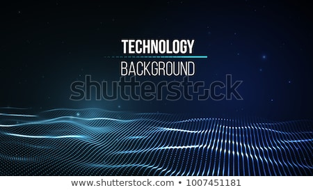 abstract blue network wire mesh technology background Stock photo © SArts