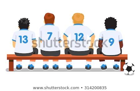Futball játékosok ül futball csapat pad Stock fotó © matimix