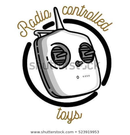 Color vintage radio controlled toys emblem Stock photo © netkov1