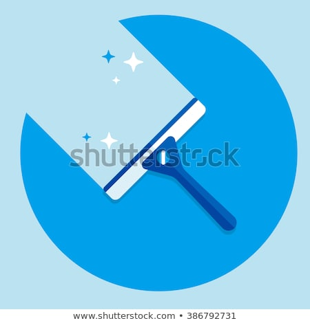 Stock photo: Cartoon Window Cleaning Squeegee Car Wash Cleaner