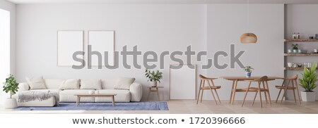 contemporary dining room design panoramic image stock photo © amok