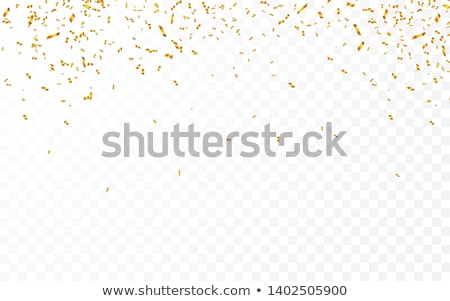 gold confetti celebration carnival ribbons luxury greeting card vector illustration stock photo © olehsvetiukha