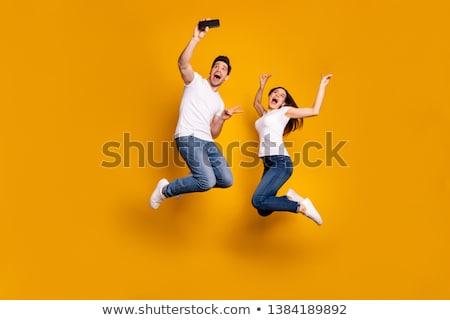 2 すごい 笑みを浮かべて 女性 友達 ストックフォト © deandrobot