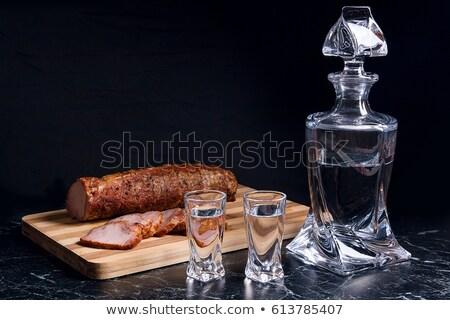Gözlük rus içmek votka geleneksel Stok fotoğraf © furmanphoto