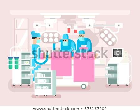 cirujano · equipo · de · trabajo · paciente · quirúrgico · habitación - foto stock © jossdiim