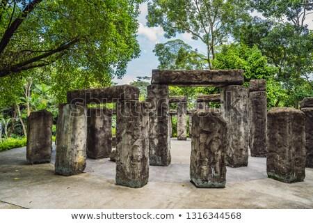 Model Stonehenge. Miniature Stonehenge in Malaysia Stock photo © galitskaya
