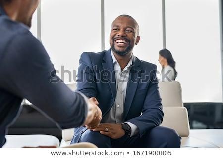 Feliz bem sucedido empresário reunião dar Foto stock © Giulio_Fornasar