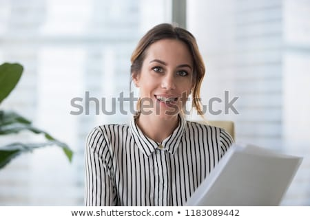 Positive attractive young female HR manager Stock photo © pressmaster
