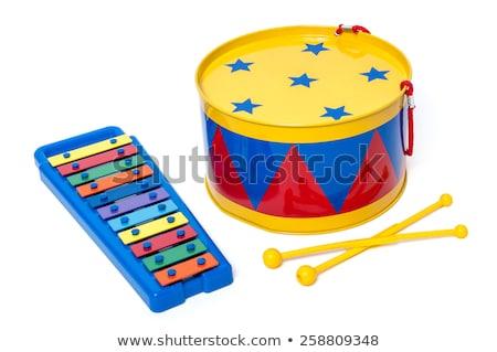 Brinquedo tambor ícone cinta vintage cor Foto stock © sifis
