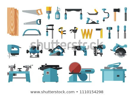 woodwork carpentry collection equipment set vector stock photo © pikepicture
