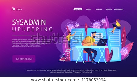 System administration landing page template Stock photo © RAStudio