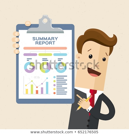 Statistics and Information on Clipboard and Man Stock photo © robuart