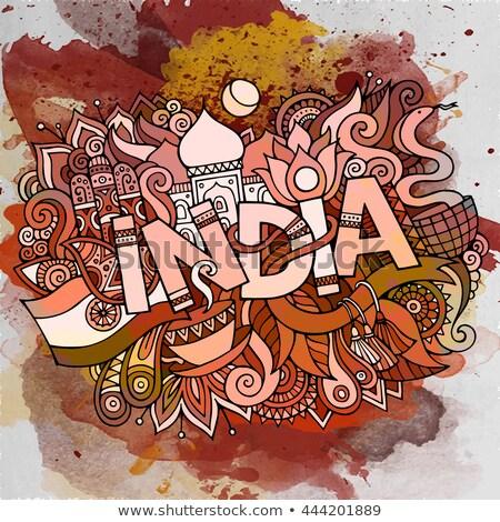 Indië illustratie indian cartoon Stockfoto © balabolka