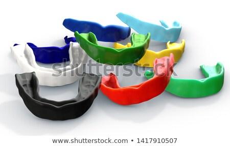 Gom bewaker kleurrijk collectie regelmatig sport Stockfoto © albund