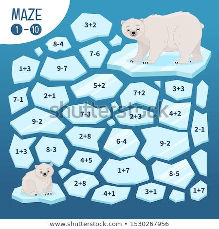 maths subtraction educational game for children Stock photo © izakowski