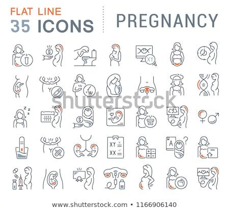 Symptomps Of Pregancy Element Vector Icons Set Stock photo © pikepicture