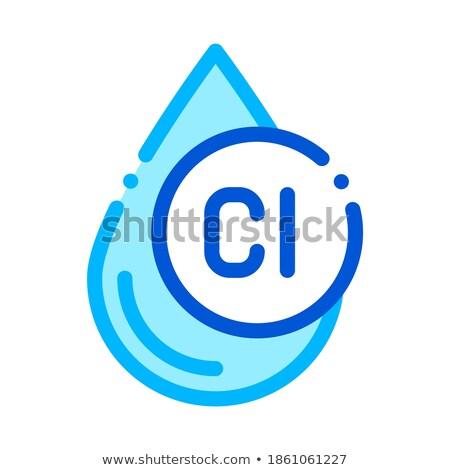 clorum liquid drop water treatment vector icon stock photo © pikepicture