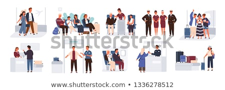 Woman Arrival, Traveler in Airport, Tourist Vector Stock photo © robuart