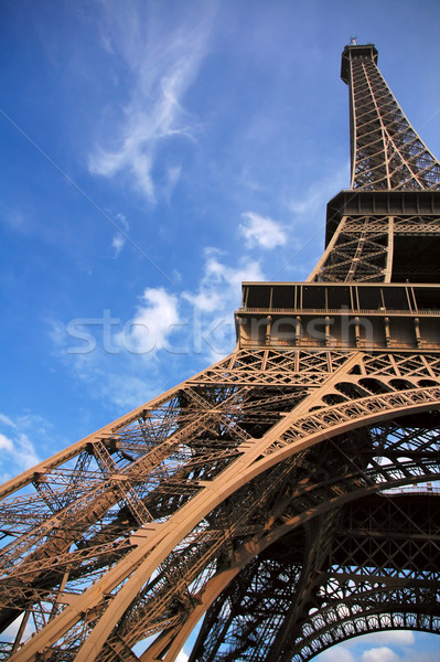 Under the Eiffel tower Stock photo © t3mujin