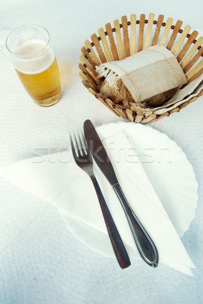 Cutlery and beer Stock photo © t3mujin