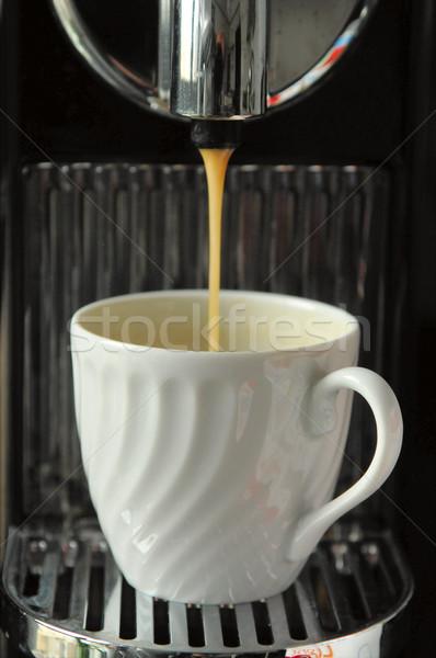 Espresso kahve fincanı makine doku gıda Stok fotoğraf © t3mujin