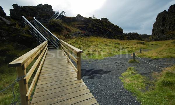 Pasaje paisaje azul peligro segura Foto stock © t3mujin