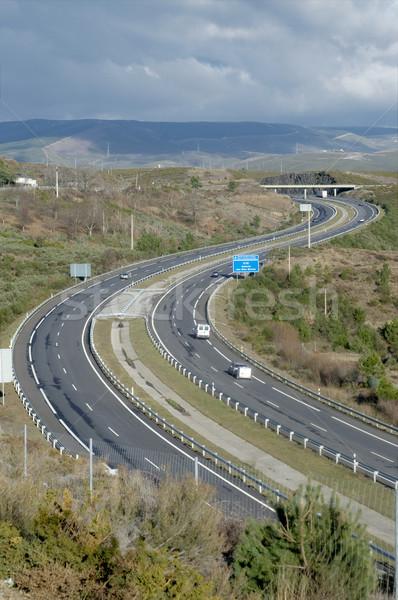 Curvy highway Stock photo © t3mujin