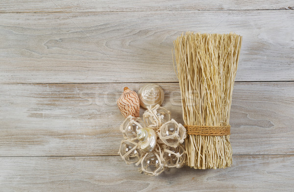 Home Decorations placed on faded wood  Stock photo © tab62