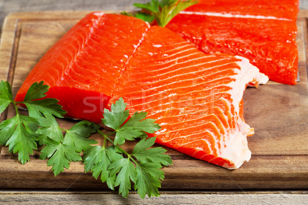 Fresh Salmon Fillets ready to Cook  Stock photo © tab62
