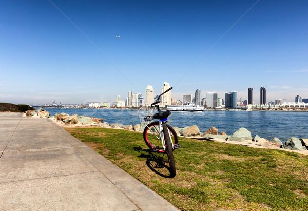 Bicicleta San Diego linha do horizonte edifício natureza esportes Foto stock © tab62