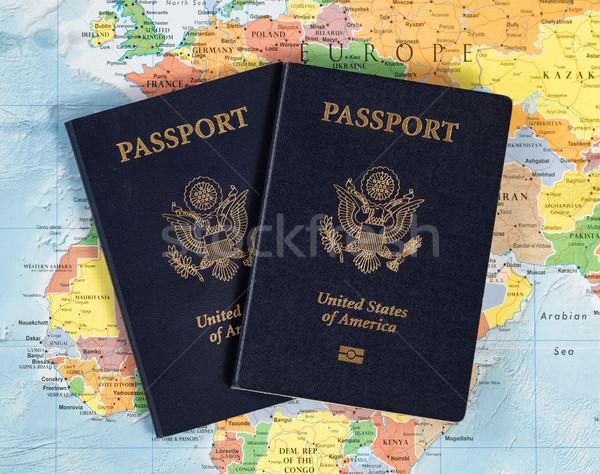 USA útlevél könyvek utazás világ Egyesült Államok Stock fotó © tab62