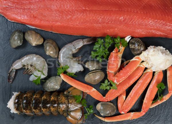 подготовленный морепродуктов природного рок свежие Сток-фото © tab62