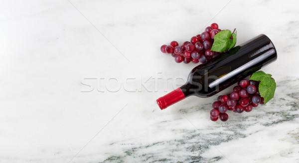 üzüm mermer taş görmek şişe Stok fotoğraf © tab62
